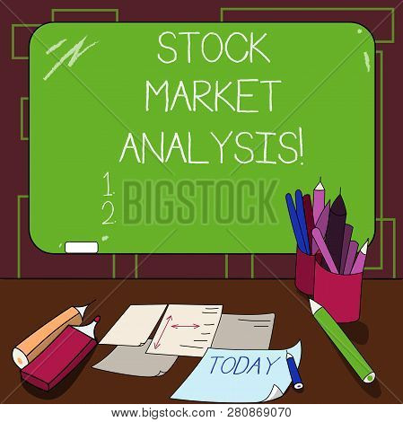 Writing Note Showing Stock Market Analysis. Business Photo Showcasing Enables Investors To Know The
