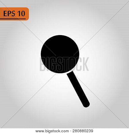 Loupe, Lupe, Search, Zoom Tool, Black Simple Icon On White - Vector