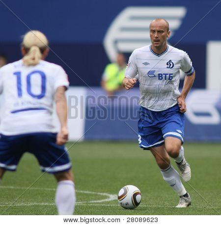 MOSCOW - JULY 3: Dinamo's midfielder Dmitry Hohlov in the VTB Lev Yashin Cup: FC Dynamo Moscow vs. FC Dynamo Kyiv (2:0), July 3, 2010 in Moscow, Russia.