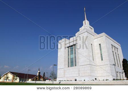 Mormon Church (Church of Jesus Christ of Latter-day Saints) in Kiev, Ukraine. poster