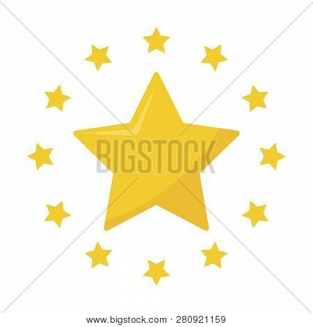 Star Yellow Color Vector Logo, Abstract Star Color Icon, Star Rating, Rank. Star Astrology Symbol. S