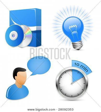 Vector Icons for Software Development Company. Raster version