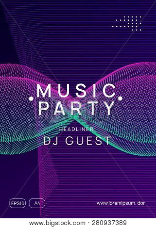 Trance event. Abstract concert magazine template. Dynamic gradient shape and line. Neon trance event flyer. Techno dj party. Electro dance music. Electronic sound. Club fest poster. poster