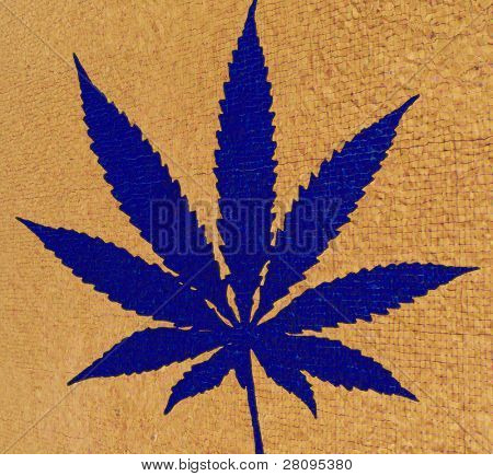cannabis leaf illustration, computer generated
