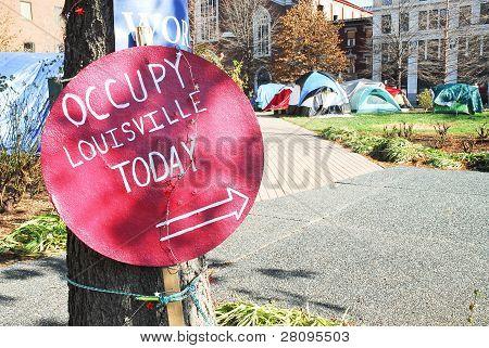 Occupy Louisville Protest Site