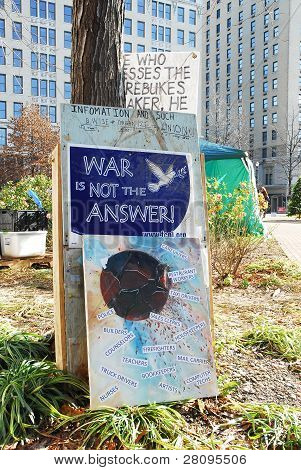 Signs At Occupy Louisville Protest