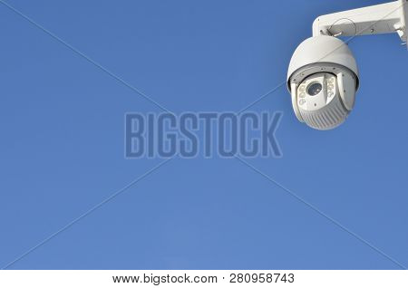 3d Security Camera Outdoor On The Building