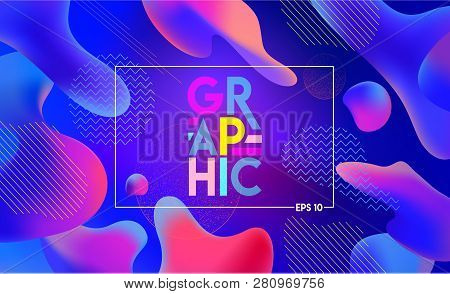 Colorful Geometric Background. Fluid Graphic Shapes Composition. Abstract Shapes Composition For Ban