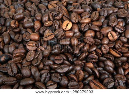 Full Frame Shot Of Coffee Beans Stock Photos