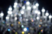 defocused lights of chandelier, blurred light fixture background poster