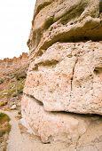 Clarno Palisades rock cliff poster