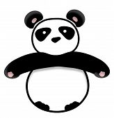 big panda illustration isolated over white background poster