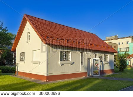 Moscow, Russia - June 24, 2020: Vdnh Park At Sunny Summer Morning. Building 174a. Caramel Manufactor