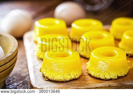 Typical Of Northeastern Brazil, Called Quindim, Its Ingredients Are Egg Yolk, Sugar And Grated Cocon