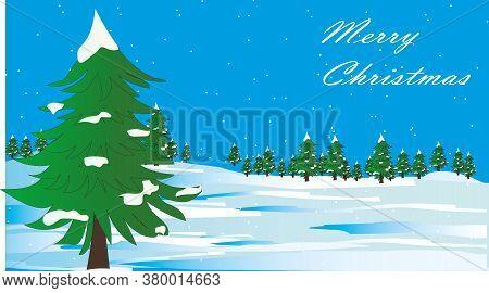 Christmas. Christmas Tree. Christmas Greeting Card. Festive Christmas Background. New Year's And Chr