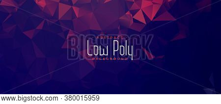 Abstract Duotone Low Poly Geometric Banner Design