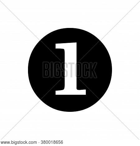 Number 1 Icon Vector. Number 1 Icon Isolated On White Background. Number 1 Icon Simple And Modern.