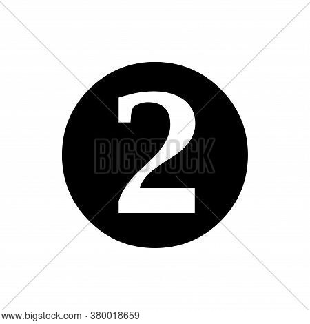 Number 2 Icon Vector. Number 2 Icon Isolated On White Background. Number 2 Icon Simple And Modern.