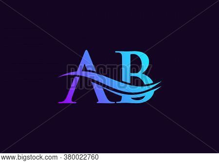Creative Letter Ab Logo Vector Template. Ab Letter Linked Logo For Business And Company Identity.