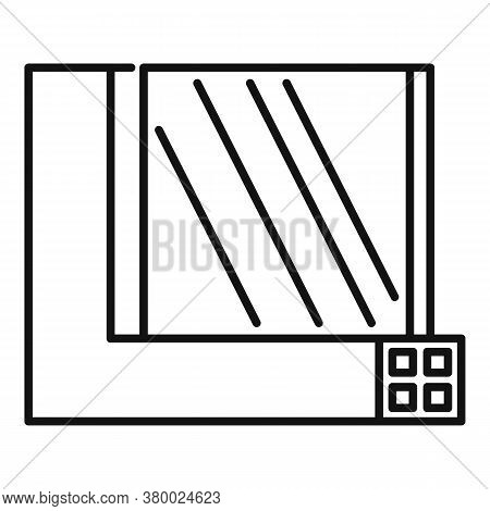 Windows Section Icon. Outline Windows Section Vector Icon For Web Design Isolated On White Backgroun