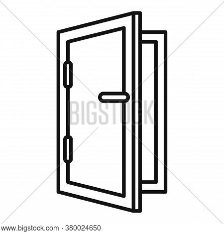 Home Installed Window Icon. Outline Home Installed Window Vector Icon For Web Design Isolated On Whi