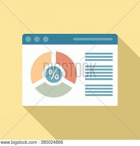 Conversion Rate Web Page Icon. Flat Illustration Of Conversion Rate Web Page Vector Icon For Web Des