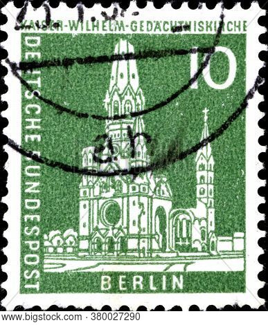 02 11 2020 Divnoe Stavropol Territory Russia The Postage Stamp Germany West Berlin 1956 The Look Of