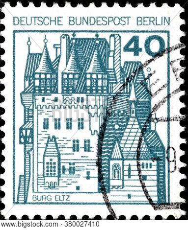 02 11 2020 Divnoe Stavropol Territory Russia The Postage Stamp Germany West Berlin 1977 Strongholds
