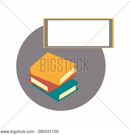 Design For An Office, School, Library, Or Bookstore. Concept Of Education, Creative Meeting. Vector
