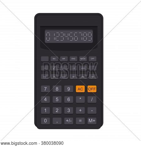 Engineering Multifunctional Calculator In Flat Style. Electronics For Calculation, Accounting, Mathe