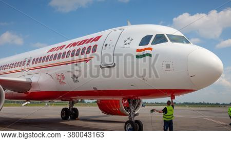 Kyiv, Ukraine - June 23, 2020: Air India Airlines Airplane, Airbus A320-251n Aircraft Vt-exh. The Pl