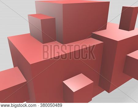 3d Render Minimalist Abstract Angular Shapes Primitive Geometrical Figures, Pastel Colors Abstract B