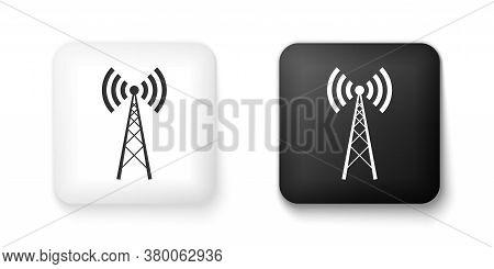 Black And White Antenna Icon Isolated On White Background. Radio Antenna Wireless. Technology And Ne