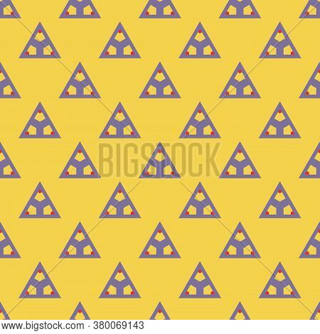 Colorful Abstract Triangle Seamless Pattern. Tile Ornamental Geometric Background. Geo Triangular Po