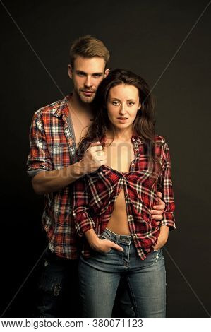 Sexual Desire. Sensual Couple. Happy Valentines Day. Love Romance. Man And Girl Passionate Couple. C