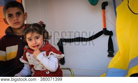 Aleppo, Syria September 27, 2019:\nyoung Children Are Treated In The Hospital.