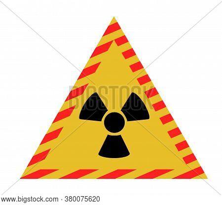 Vector Illustration Of Radiation Sign. Radiation Sign Signs And Symbols.