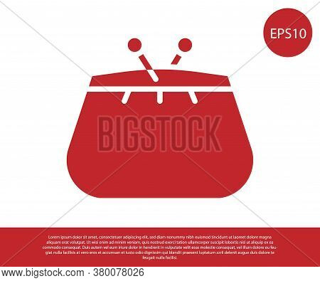Red Wallet Icon Isolated On White Background. Purse Icon. Cash Savings Symbol. Vector Illustration