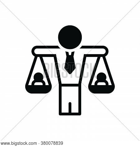 Black Solid Icon For Human-balanced-scale Equivalence Equality Judgment Responsibility Equilibrium I