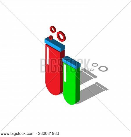 Laboratory Chemical Beaker Isometric Flat Icon. 3d Vector Colorful Illustration. Pictogram Isolated