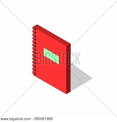 Notebook, Diary Simple Vector Icon. Illustration Symbol Design Template For Web Mobile Ui Element. P