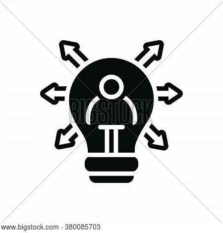 Black Solid Icon For Personal-solution Personal Solution Explanation Clarification Elucidation Pecto