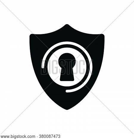 Black Solid Icon For Protection Conservation Insurance Preservation Safeguard Safety Security Shelte