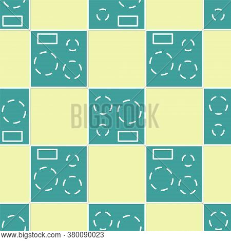 Green Electric Stove Icon Isolated Seamless Pattern On Yellow Background. Cooktop Sign. Hob With Fou