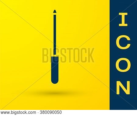 Blue Knife Sharpener Icon Isolated On Yellow Background. Vector Illustration