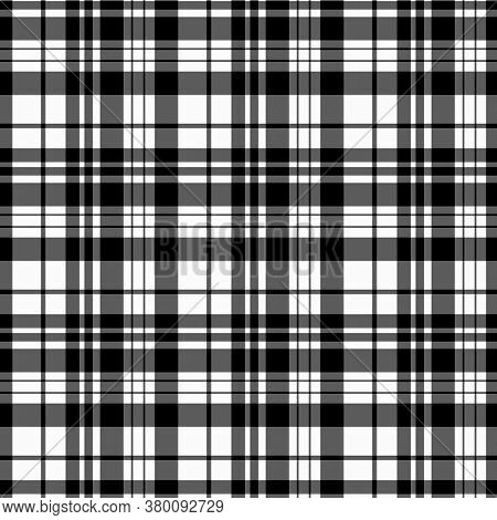 Plaid Pattern. Flannel Fabric Texture. Checkered Background. Texture From Tartan, Plaid, Tablecloths