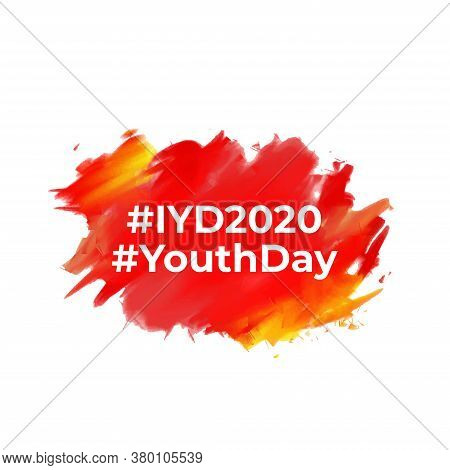 Design For Celebrating International Youth Day Event. August 12.