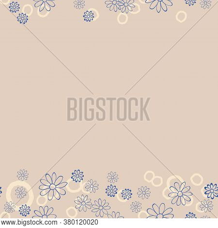 Floral Lace Vector Seamless Illustration. Pastel Repeat Pattern