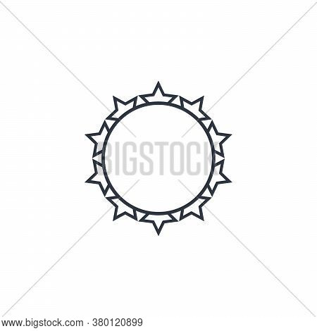 Crown Of Thorns, Geometric Circle. Stock Vector Illustration Isolated On White Background.
