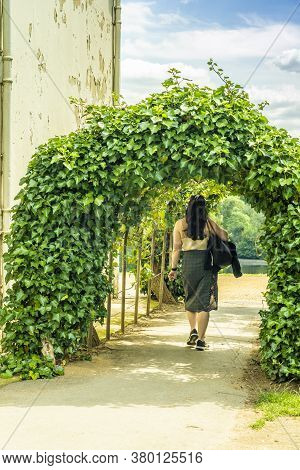 June 2020. London. A Woman Walking By Kenwood House, Hampstead Heath, London, England, Uk Europe